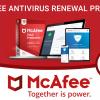 McAfee Antivirus Renewal Steps