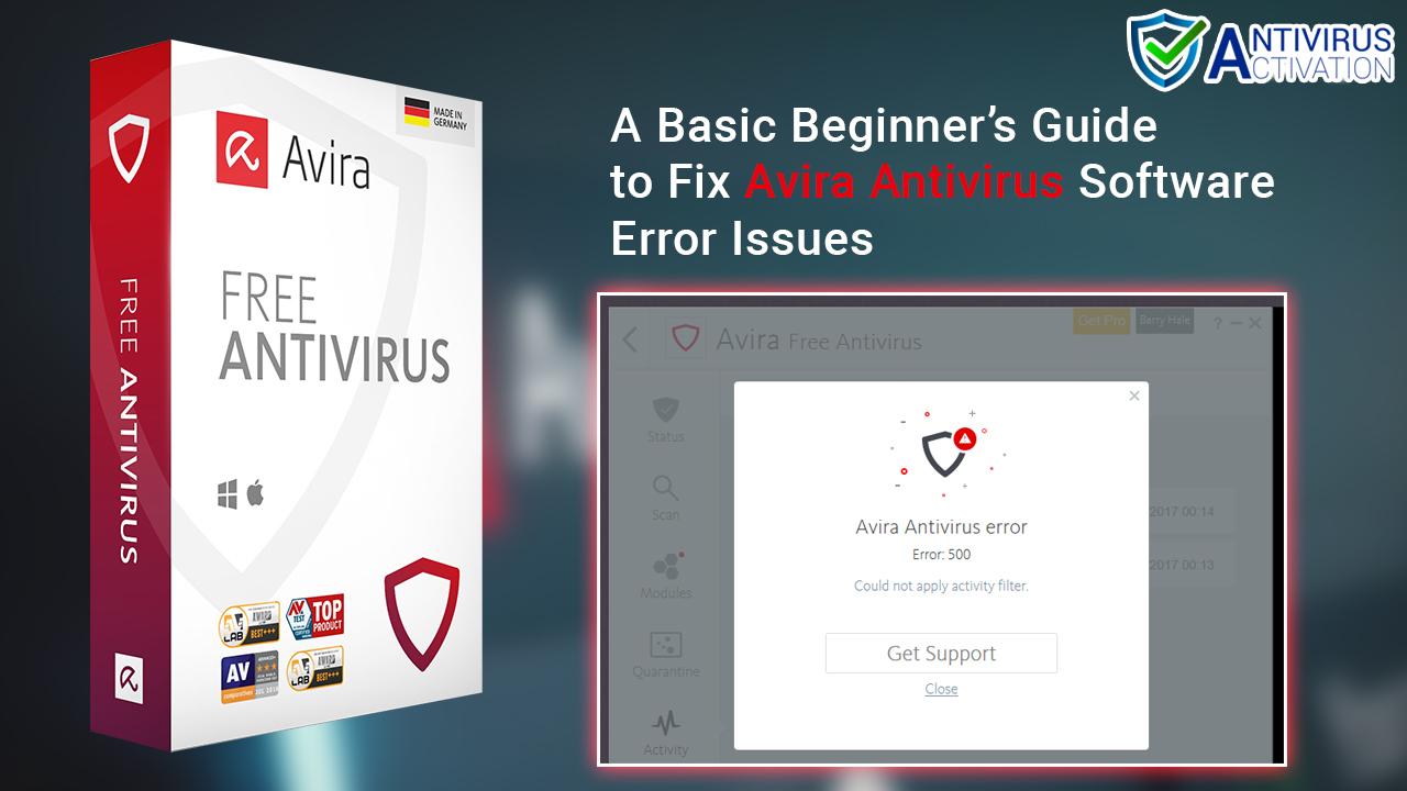 Fix Avira Antivirus Software Error